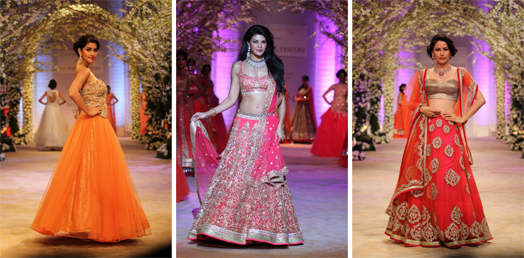Held from Nov 29- Dec 4, 2013, one could see a royal bride, gothic bride, Awadhi bride, a free-spirited bride and more... sashay down the ramp as top fashion gurus like JJ Valaya, Tarun Tahiliani, Raghavendra Rathore, Shantanu and Nikhil, Falguni and Shane Peacock, Rohit Bal, Ashima Leena, Meera and Muzaffar Ali, Neeta Lulla, Jyotsana Tiwari, Gaurav Gupta and Pallavi Jaikishan showcased their interpretation of bridal couture that maketh the modern-day bride.