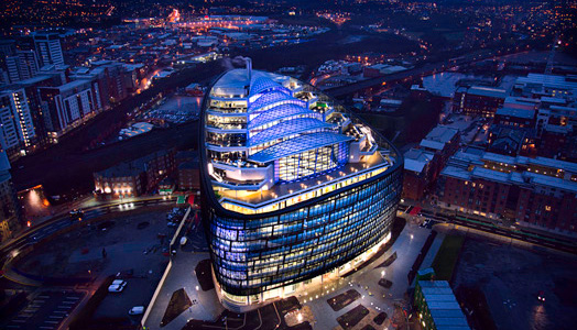 One Angel Square, Manchester designed by 3DReid