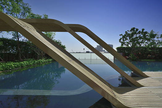 WYNE landscape design by Bangkok-based Sanitas Studio.