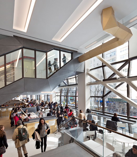 The New School - University Centre at NYC designed by Skidmore, Owings and Merrill
