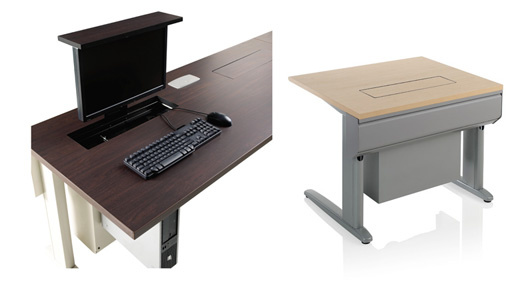 """Smart Lift table"" is a multipurpose table surface by KI contract Furniture Company"