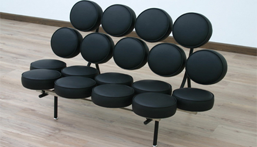 """Black Circle Sofa"" by Nycbed.com"