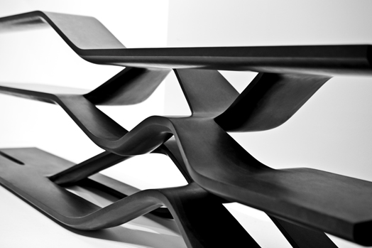 Ar. Zaha Hadid's products at the Salone del Mobile 2014.