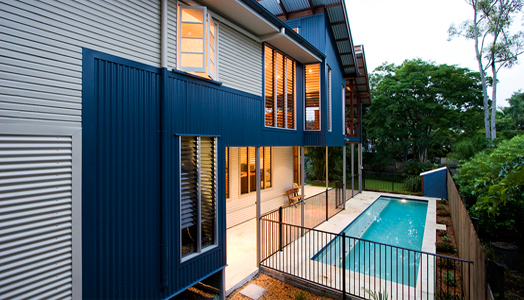 residential property near Brisbane River, Australia renovated by D S Architecture