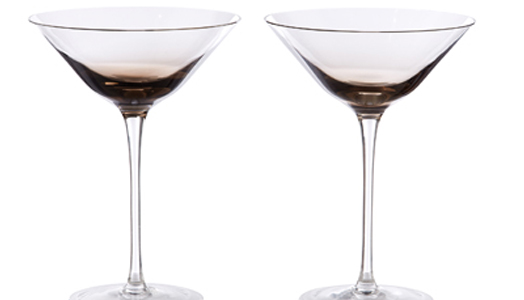 India Art n Design features Capri Martini glasses by Kelly Hoppen