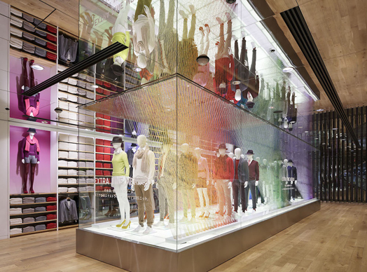 India Art n Design features Uniqlo installation by Emmanuelle Moureaux