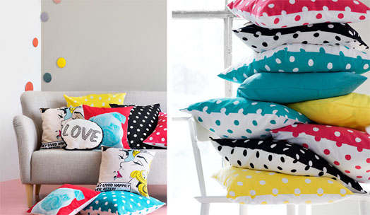 H&M's Home department unveils a range of soft furnishings, especially cushions that are ideal at adding a flourish to your décor.