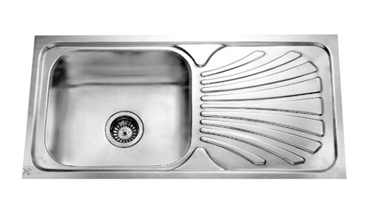 Jayna, the kitchen essential gives an  exotic range of single-bowl sinks with stylishly designed drainer pattern