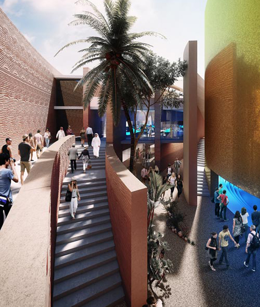 United Arab Emirates pavilion for 2015 Milan Expo by Foster+Partners