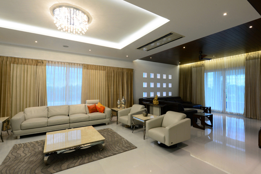 Mr. Vara Prasad Reddy's 14,000 sq. ft., 3-storeyed bungalow by Haresh Lakhani, principal architect, HP Lakhani Associates.