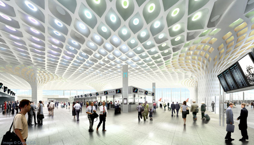 Mumbai's stunning new GVK Chhatrapati Shivaji International Airport Terminal 2 designed by Skidmore, Owings & Merrill (SOM) architects