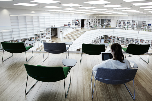 Dalarna University Library, Sweden by Danish architects ADEPT
