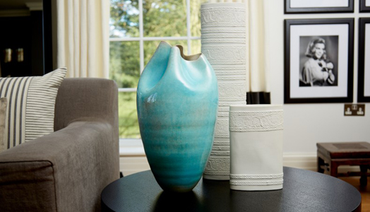 Kelly Hoppen designs Aqua Pinched Vase on theme of water
