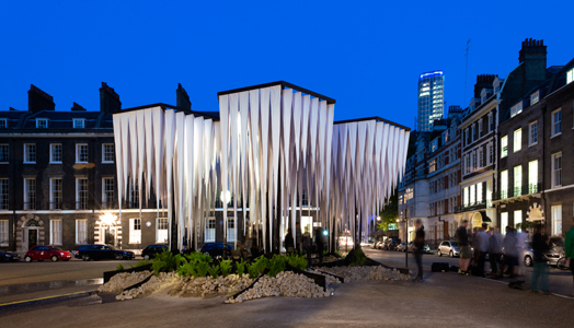 Rainforest Pavillion by GUN Architects at Bedford Square, London