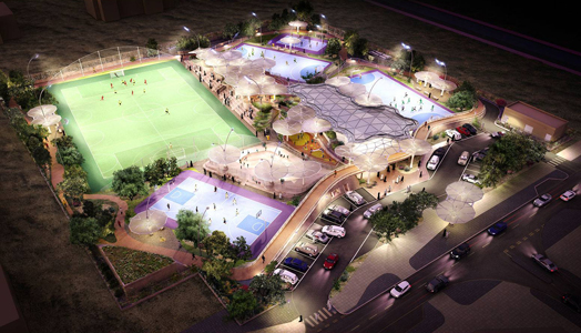 Grimshaw Architects' design  Al Farjan Recreational Sports Facilities in Qatar