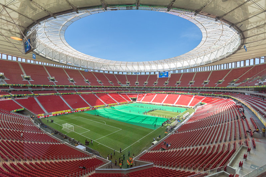 Mane Garrincha Brasilia national stadium in Brazil