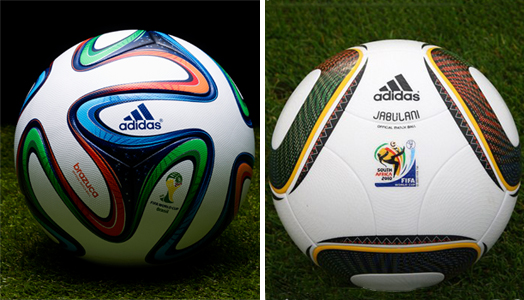 Jabulani and Brazuca - Design