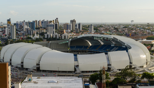 Arena Das Dunas  in Natal, Brazil designed by Populous