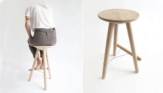 """Tubabu"" stool by Basque designer Martín Azúa."