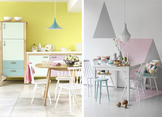 Pastel colours for a chic ambience