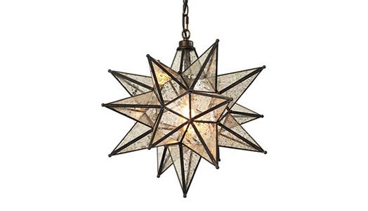 """""""Moravian Star Mercury"""" chandelier"""