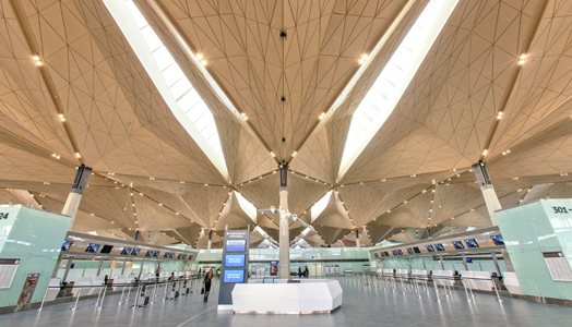 New terminal at Pulkovo International Airport, St. Petersburg, Russia,designed by Grimshaw Architects