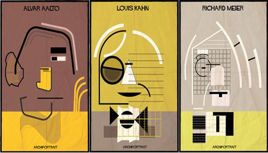ArchiPortrait by Italian graphic designer Federico Babina.