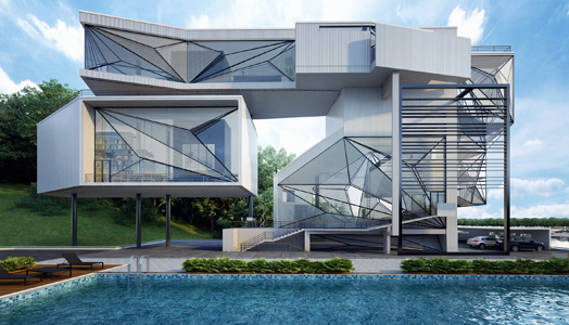 Aviator's Villa by Architect Carlo Enzo of Urban Office Architecture.