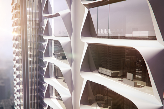 'Grove Towers', Mumbai, designed by  3XN Studio.