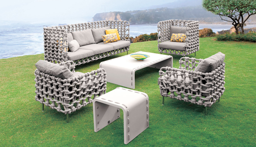 "Designer Kenneth Cobonpue presents the new line of indoor & outdoor Furniture ""Cabaret""."