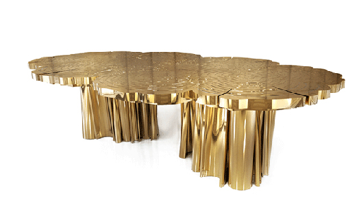 "Boca do Lobo's limited edition dining table ""Fortuna""."
