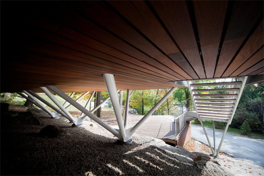 India Art n Design features Balnea Pavillion des abres by Blouin Tardif Architecture-Environment