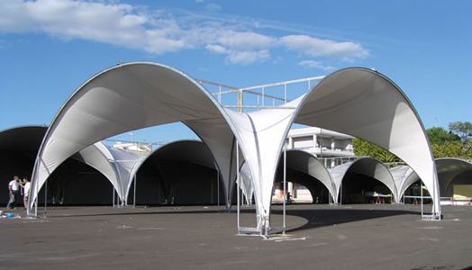 India Art n Design features modular tensile structures by SPRECH