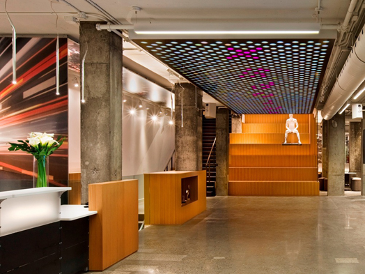 India Art n Design features Lighting design by LumiGroup for Artopex in Old Montreal