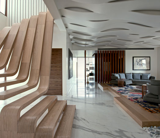 India Art n Design features Wood in Interiors
