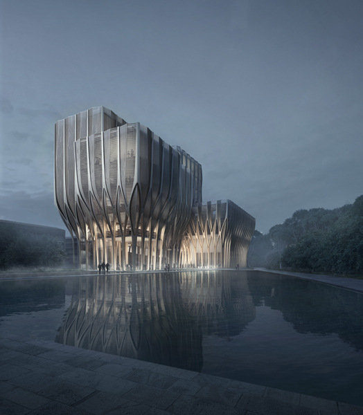 India Art n Design features Sleuk Rith Institute, CAmbodia by ZHA