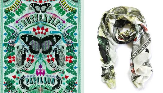 scarf designed by Lorenzo Petrantoni