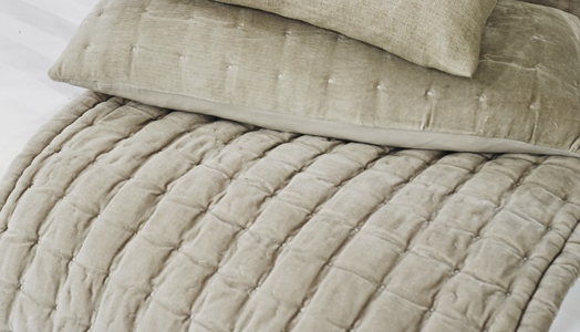 pin-tuck quilted bed runner from Kelly Hoppen.