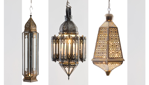 Ornate Lanterns from Good Earth