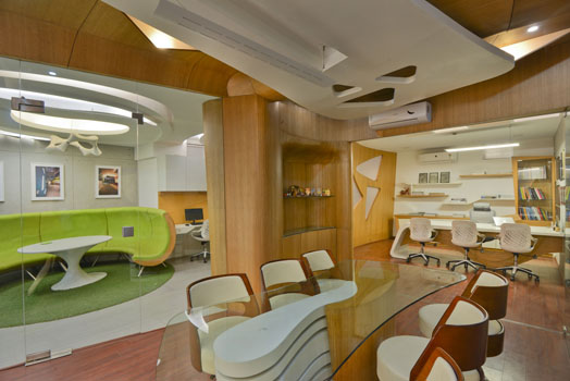 India Art n Design ezine features Office projects by  Kapil Aggarwal