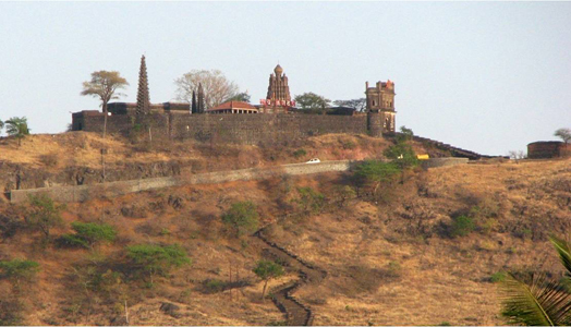 Shri Sakhargad Niwasini Devi temple complex in Kinhai, Satara restored by Kimaya Architects