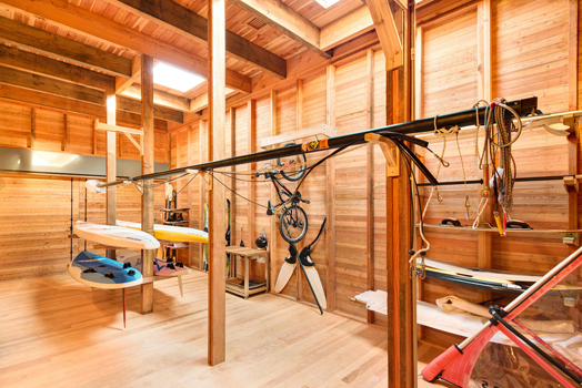natural cedar finish boathouse interiors