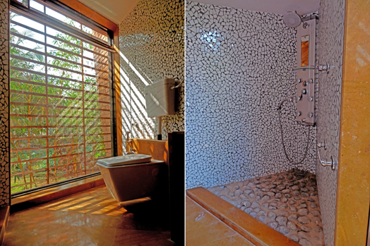 mosaic work in bathrooms