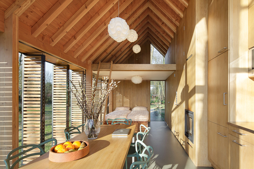 living spaces inside the recreational cottage