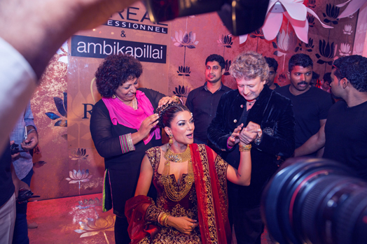 Ambika Pillai with Sushmita Sen and Rohit Bal