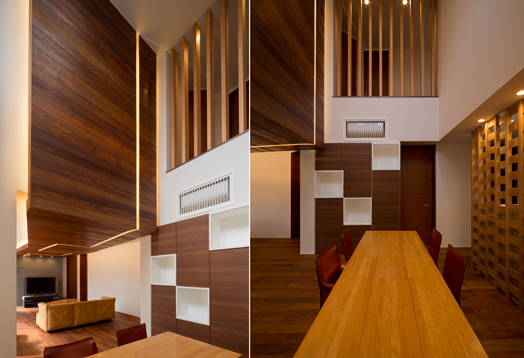 wood cladding on walls