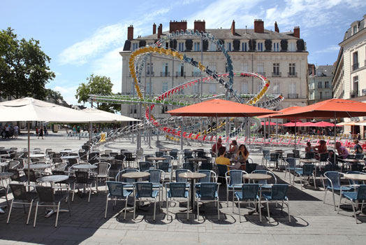 Baptiste Debombourg's chair installation in Nantes France