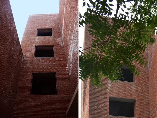 climate-friendly brick building