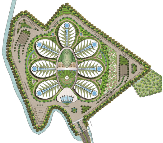 Site plan of Directorate Complex, Guwahati