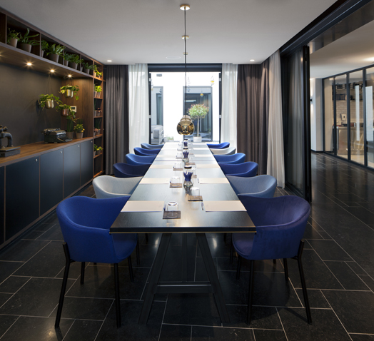 luxe private dining room